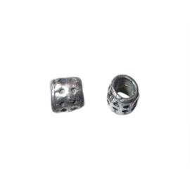 Metalen kraal, groot gat van 4 mm.