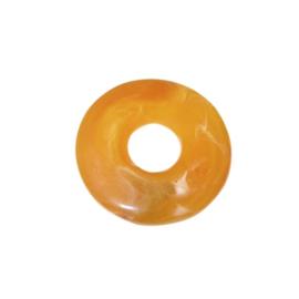 Oranje bruin polyester ring