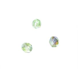 Jaspis glazen facetkraal 6 mm