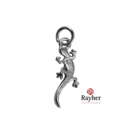 Silver colored metal deco hanger Salamander