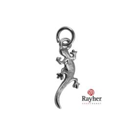 Zilverkleurig metalen Hangertje Salamander