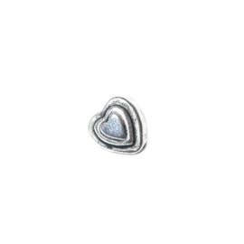Metalcolored heart