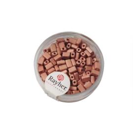 Zacht roze metallic rechthoekige rocailles van Rayher