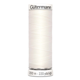 Nr 111 Offwhite Gütermann Sew all Thread 200 m.