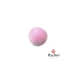 Roze pompon 15 mm van Rayher