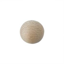 Grote houten ronde kraal 30 mm met gat