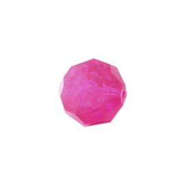 Roze polyester bol facet