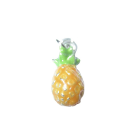 Pineapple Charm made of metal, with yellow and green