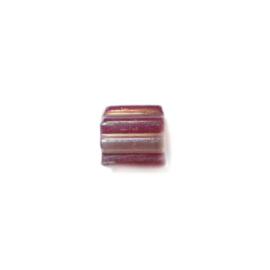 Glaskraal met een helft rood en andere helft doorzichtig
