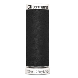 Nr 000 Zwart Gutermann alles naaigaren 200 m