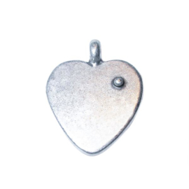 Massief metalen hanger in de vorm van een hart