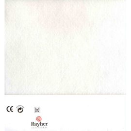 Wit textielvilt soft 30 x 45 cm van Rayher