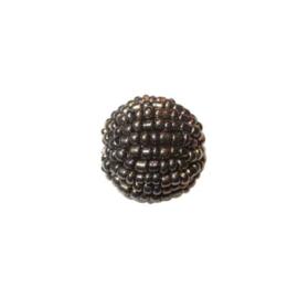 Kleine bruine lustré Rocaille bol van glaskraaltjes