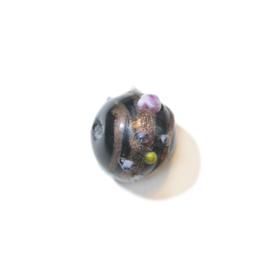 Italian Style zwarte ronde glaskraal