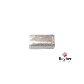 Zilveren langwerpige kraal 10 mm