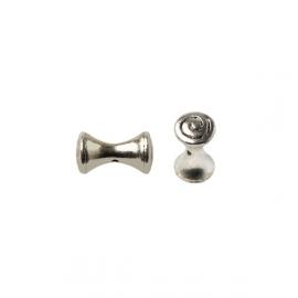 Metal silver colored diabolic