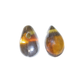 Bruine druppelvormige glaskraal