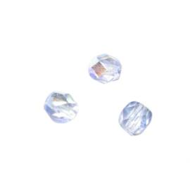 Aquamarijn glazen facetkraal 6 mm