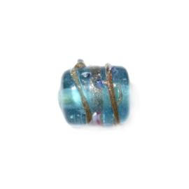 Italian Style Turquoise buisvormige glaskraal