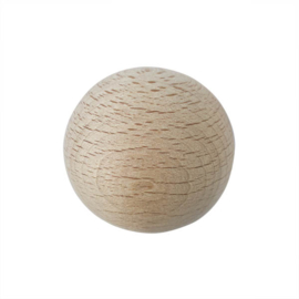 Grote houten ronde kraal 50 mm met gat