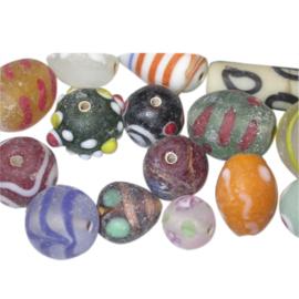 African Trademix gemaakt van glas; verschillende afmetingen