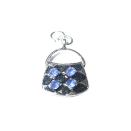 Bag Charm made of metal with blue