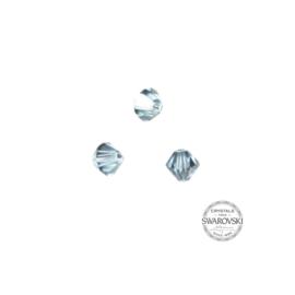 Blauw grijze Swarovski bicone kraal 4 mm