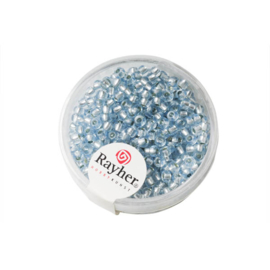 Light Blue Rocaille with Silverkern 2,6 mm from Rayher