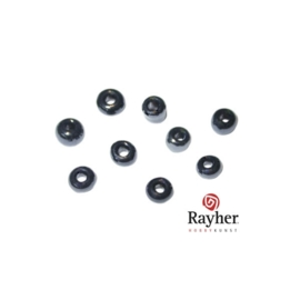 Zwarte rocaille met zilverkern 2,6 mm  van Rayher