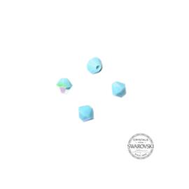 Turquoise Star Swarovski bicone bead 4 mm