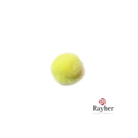 Gele pompon 15 mm van Rayher