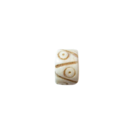 Cream coloured bone bead