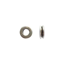 Zilverkleurige metalen, ronde kraal