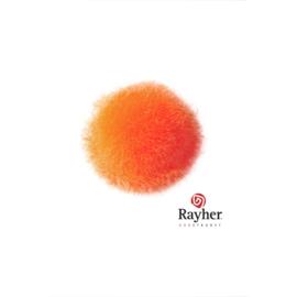 Oranje pompon 20 mm van Rayher