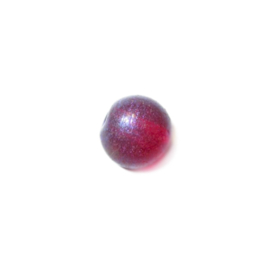 Red, round glass bead luster