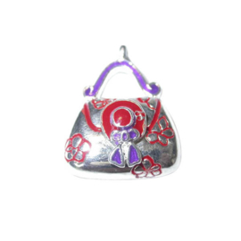 Tas Bedel van metaal met rood en paars