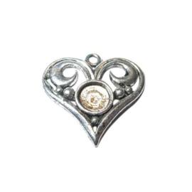 Metalen hart geschikt voor plakparel of plaksteen van 7 mm.