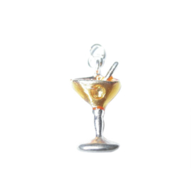 Cocktail Charm made of metal with orange