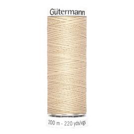 Nr 170 Donkerbeige Gutermann alles naaigaren 200 m.
