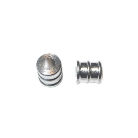 Metal oblong bead with reliëf