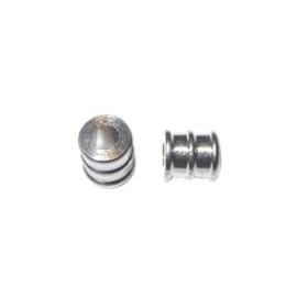 Metalen tussenkraaltje, langwerpig met reliëf