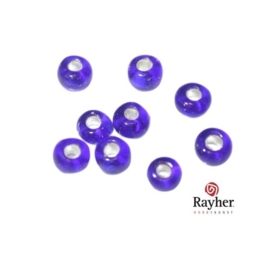 Donkerblauwe rocaille met zilverkern 2,6 mm van Rayher