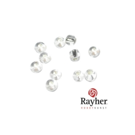 Doorzichtige rocaille met zilverkern 2,6mm van Rayher