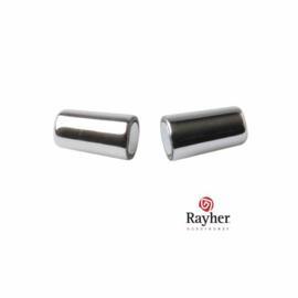 Zilverkleurige Kunststof magneetsluiting Olijf