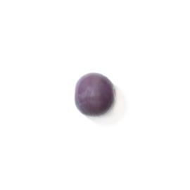 Ronde paarse glaskraal