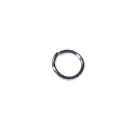 Black Nickelkleurige buigring 5 mm, 0,8 mm dik