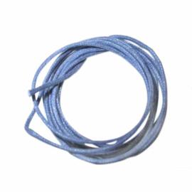 Navyblauw gewaxt katoen 1 mm