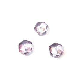 Lichtpaarse discusvormige glaskraal