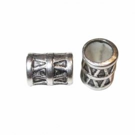 Bead with metal colored coating