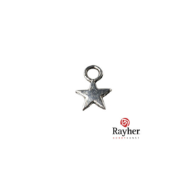Little silver colored metal charm Star